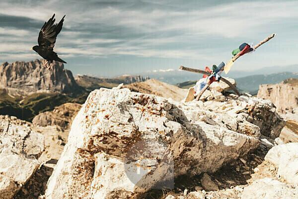 Am Sas Campac in den Dolomiten