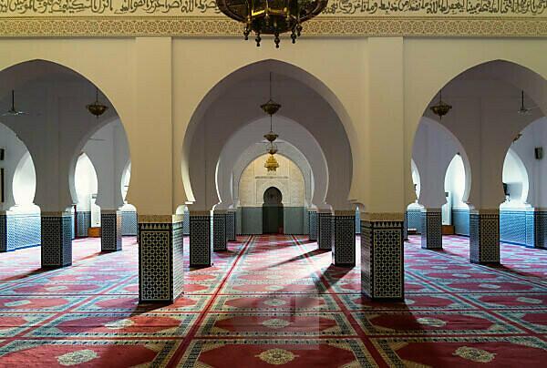 Morocco, Rissani, Mausoleum Moulay Cherif, Prayer Room