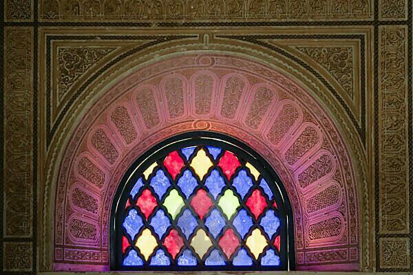 Morocco, Marrakech, Palais de la Bahia, windows