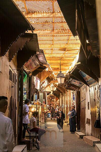 Morocco, Fez, old town, souk, narrow streets