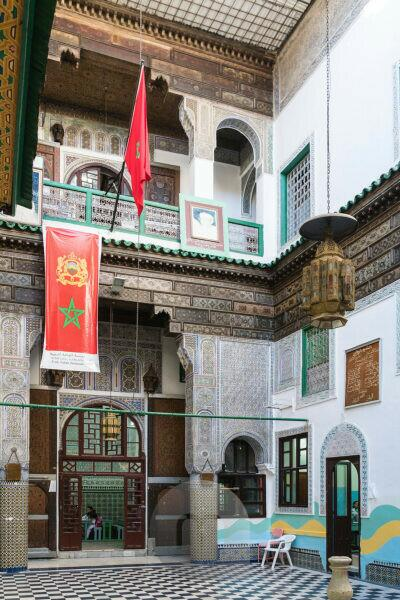 Morocco, Fez, school of pedagogical renaissance, courtyard