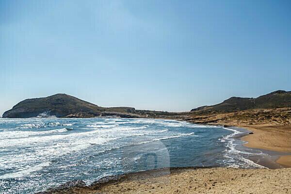The Mediterranean coast in the Cabo de Gata National Park, near San José, Almeria, Spain, Europe