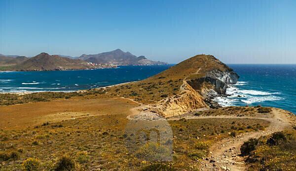 The Mediterranean coast in the Cabo de Gata National Park, near San José, Almeria, Spain, Europe.