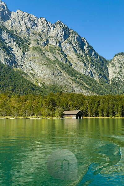 Berchtesgaden, Alpen, Bootshaus, Hirschau, Königsee, Watzmann