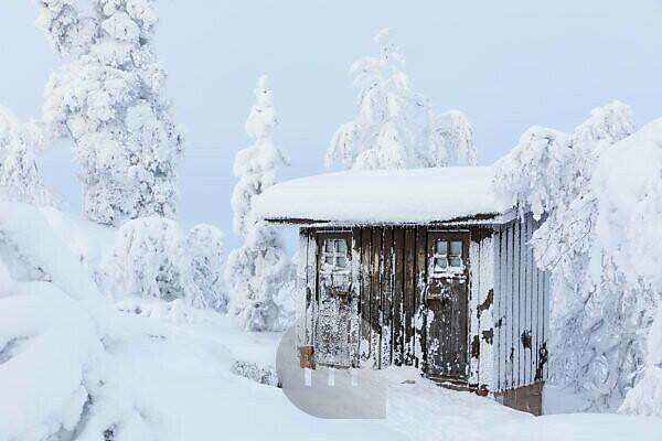 Finnland, Lappland, Winter, Enontekiö, Landschaft vom Jyppyrä