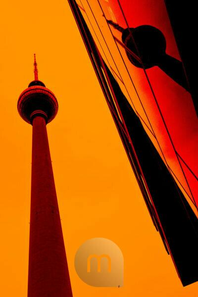 Alexanderplatz, Berlin-Mitte, reflection of the Berlin TV Tower