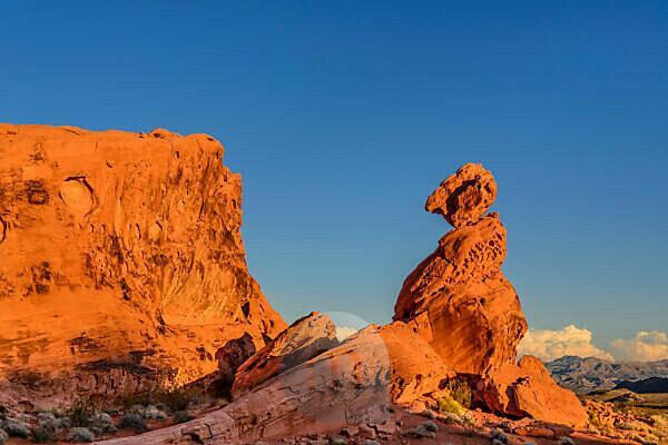 USA, Nevada, Clark County, Overton, Valley of Fire State Park, Felsformationen beim Visitor Center