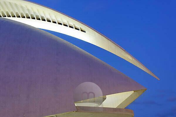 Palau de les Arts Reina Sofia,opera,architect Santiago Calatrava,Ciudad de las Artes y de las Ciencias,Valencia,Spain