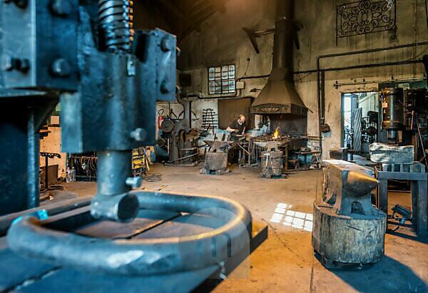 Pernes-les-Fontaines, Vaucluse, Provence-Alpes-Cote d'Azur, France. The blacksmith La Forge