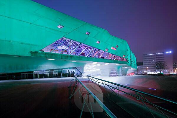 Phaeno, Museum, Science Center, Zaha Hadid, Evening, Architecture, Wolfsburg, Lower Saxony, Germany, Europe