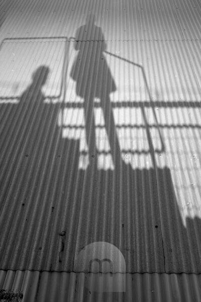 Silhouette on the roof of the LX Factory