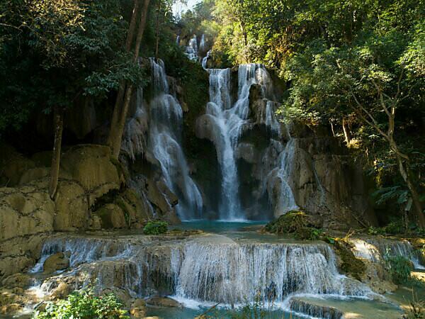 Kuang-Si-Wasserfall, Luang Prabang, Laos