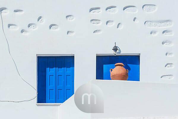 Architektonisches Detail, Chora, Amorgos, Kykladen, Griechenland,