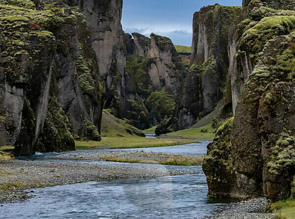 Riverbed, Fjardargljufur canyon, Iceland,
