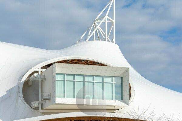 France, Lorraine, Metz, Center Pompidou-Metz, architect: Shigeru Ban.