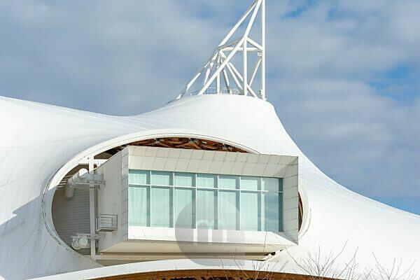 Frankreich, Lothringen, Metz, Centre Pompidou-Metz, Architekt: Shigeru Ban.