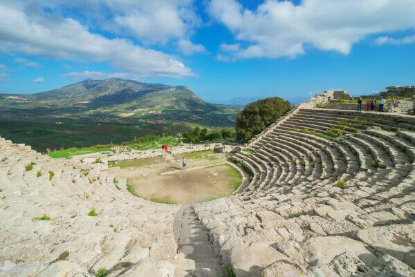 Roman theatre, Segesta, Sicily, Italy