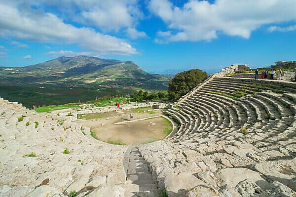 Römisches Theater, Segesta, Sizilien, Italien