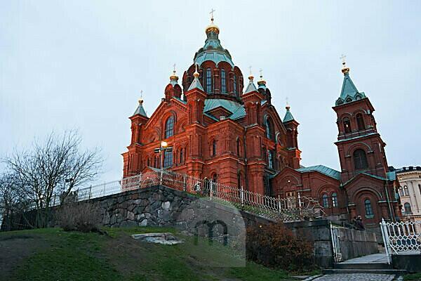 Uspenski Kathedrale in Helsinki, Finland im November