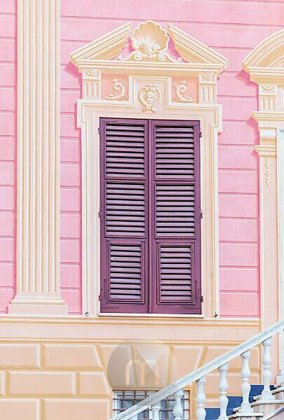 Traditionelle ligurische Hausfassade, Sestri Levante, Ligurien, Italien,