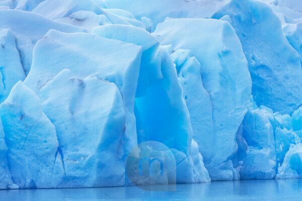 Iceberg detail, Lago Gray glacier, Torres del Paine National, Chile, South America