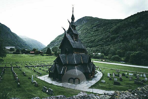 Norway, Bgung, stave church