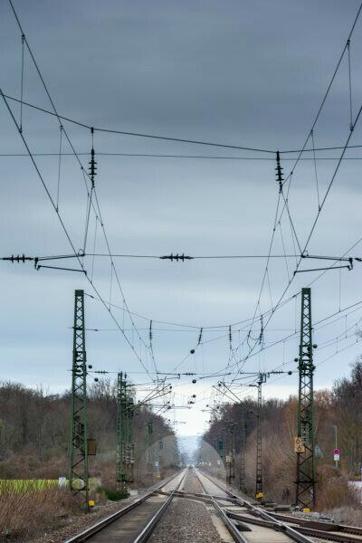 Germany, Baden-Württemberg, Weingarten (Baden), track system.