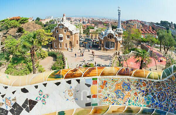 Park Güell, Barcelona, Catalonia, Spain, Europe