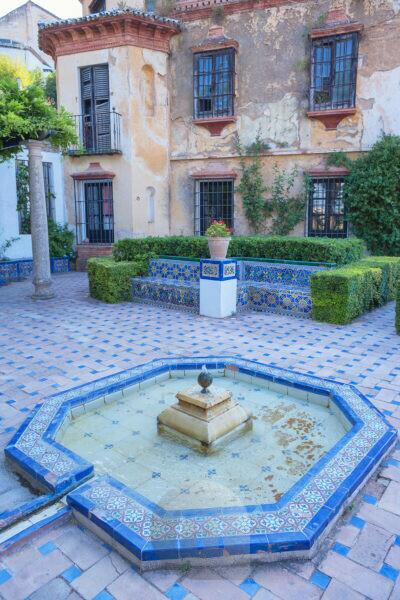Moorish style tiles fountain, Ronda, Malaga Province, Andalusia, Spain, Europe