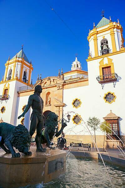 Socorro chuch, Plaza del Socorro, Ronda, Malaga Province, Andalusia, Spain, Europe