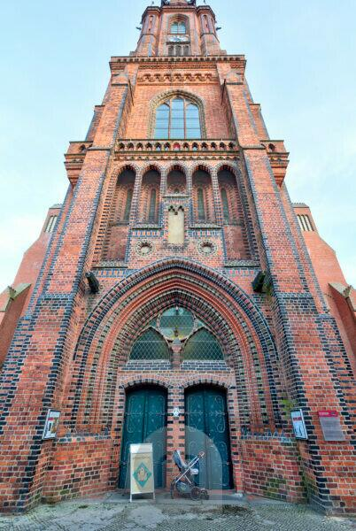 church, Saint Nicolai, facade, Hanseatic city, Lüneburg, Lower Saxony, Germany, Europe