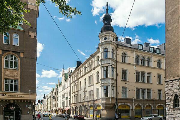 Helsinki, Old Town, Art Nouveau facades, Uudenmaankatu