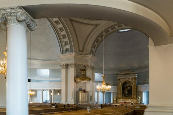 Helsinki, old town, cathedral, simple interior