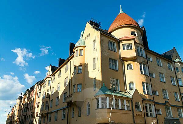 Helsinki, Art Nouveau district in Katajanokka, Kauppiaankatu