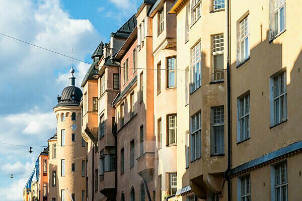 Helsinki, Jugendstilviertel in Katajanokka, Skatsuddsgatan