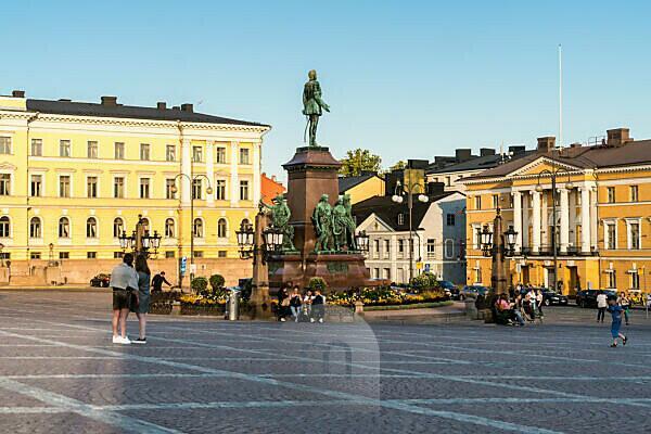 Helsinki, Senate Square, summer, evening mood, sunny