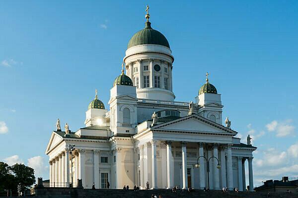 Helsinki, Senate Square, cathedral, evening mood