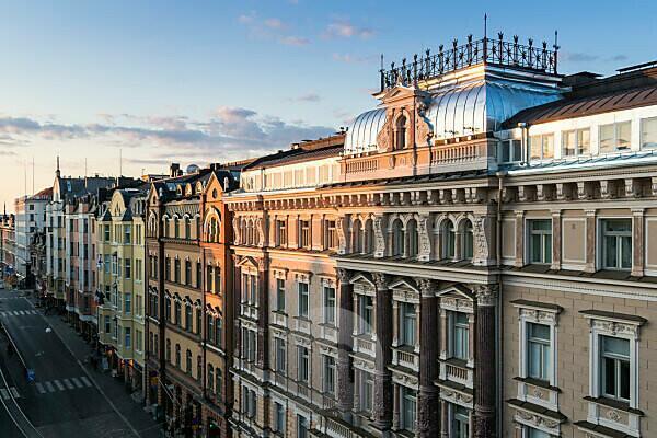 Helsinki, Erottjankatu, Art Nouveau facades