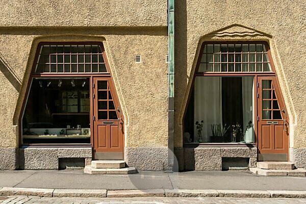 Helsinki, Altstadt, Jugendstil, Fabianinkatu, Ladenfenster