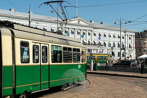 Helsinki, Kauppatori, Straßenbahn