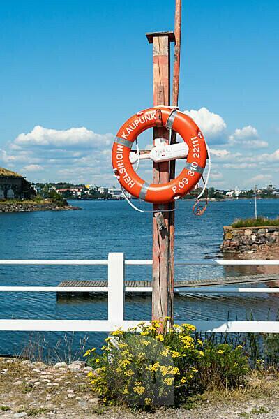 Helsinki, Insel Suomenlinna, Seefestung, Rettungsring