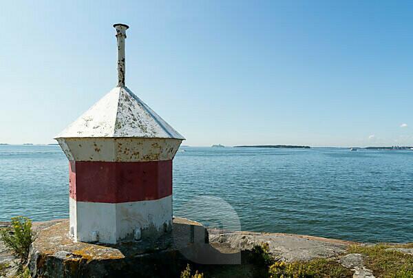 Helsinki, Suomenlinna, lighthouse on Länsi-Mustasaari