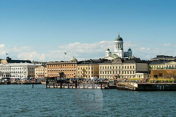 Helsinki, old town, harbor, Kauppatori, Dom