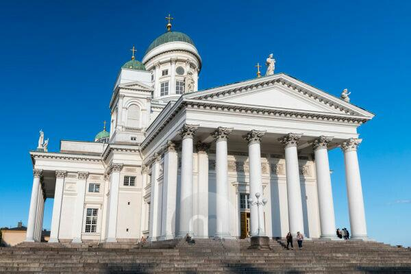Helsinki, cathedral, steps, panorama