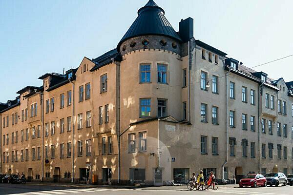 Helsinki, Jugendstilarchitektur im Stadtteil Eira, Pietarinkatu/Kapteeninkatu, Haus Maja