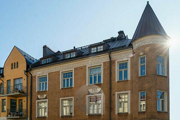Helsinki, Art Nouveau architecture in the district of Eira, Juvilakatu, voted Helsinki's most beautiful street