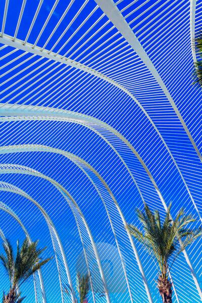 The Umbracle, City of Arts and Sciences, Valencia, Comunidad Autonoma de Valencia, Spain, Europe