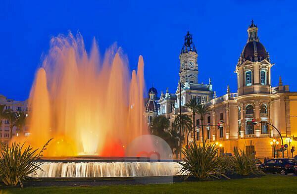 Magic Fountain, Valencia, Comunidad Autonoma de Valencia, Spain