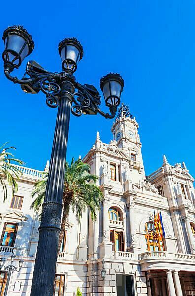 City hall, Valencia, Comunidad Autonoma de Valencia, Spain, Europe