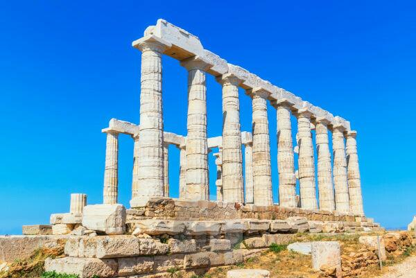 Temple of Poseidon, Cape Sounion, Attica, Greece
